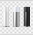3d realistic white blank spray can bottle vector image vector image