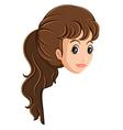 A head of a girl vector image vector image