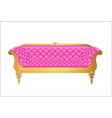 a pink vintage sofa on white vector image vector image