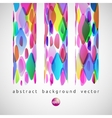 abstract background of color diamonds vector image vector image
