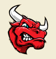 Angry Bull Head Mascot vector image vector image