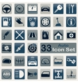 Auto icon set vector image
