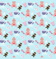 baby girl pattern vector image vector image