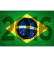 Background colors of the Brazilian flag with the vector image vector image
