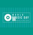 background of world music day celebration vector image vector image