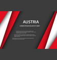 background with austrian colors and free grey spce vector image