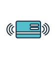 bank card transaction internet things line and vector image vector image