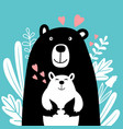 bear family scandinavian vector image