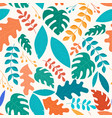 botanical fantasy leaves seamless pattern garden vector image