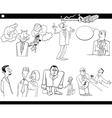 business cartoon concepts set vector image