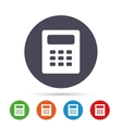 Calculator sign icon Bookkeeping symbol vector image