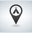 camping base location icon drop shadow map vector image