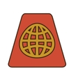 Cartoon red passport identification tourist vector image