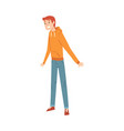 cheerful young man character in casual clothes vector image vector image