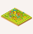 children playground isometric vector image vector image