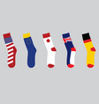 colorful national flag socks vector image vector image