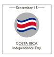 Costa Rica Independence Day vector image vector image