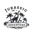 dinosaur logo concept Sauropod adventure vector image vector image
