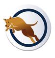 dog jump logo vector image vector image