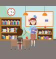 elementary school cartoon vector image vector image