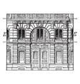 entresol below a higher floor vintage engraving vector image vector image