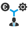 Euro Financial Development Flat Icon vector image vector image