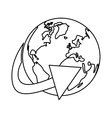 figure globe connections network image design vector image