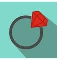 Flat wedding ring vector image vector image