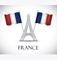 france flag design vector image vector image