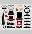 gentleman vintage accessories vector image vector image