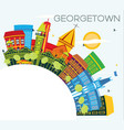 georgetown guyana city skyline with color vector image vector image