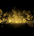 glittery gold sparkle background vector image vector image