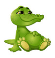 good green crocodile vector image