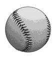 hand drawn sketch baseball ball in black and white vector image vector image