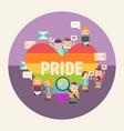 happy pride vector image vector image