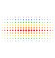 heart lock spectrum halftone effect vector image vector image
