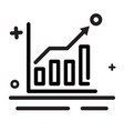icon chart business growth analytic icon modern vector image vector image
