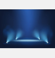 illuminated stage with bright lights template vector image