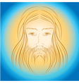 Jesus Christ shine light gloride rays vector image vector image