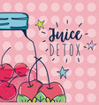 juice detox cartoon vector image