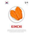 kimchi national korean dish vector image vector image