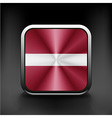 Latvia flag button icon country national vector image vector image