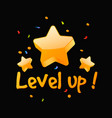 level up reward vector image vector image