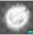 light ring round shiny frame with lights dust vector image vector image