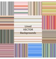 lined patterns set vector image vector image