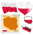 national colours of Poland vector image vector image