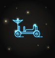 neon lunar rover icon in thin line style vector image