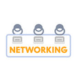 networking or coworking banner top view vector image