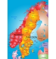 Norway and Sweden vector image vector image
