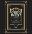 old vintage whiskey label design vector image vector image